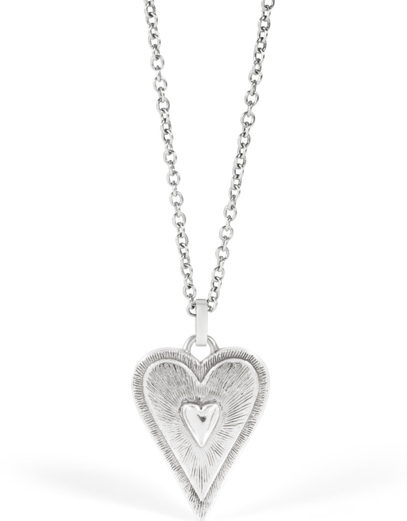Dazzling Love White Necklace