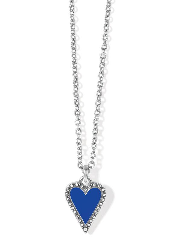 Dazzling Love Petite Blue Heart Necklace