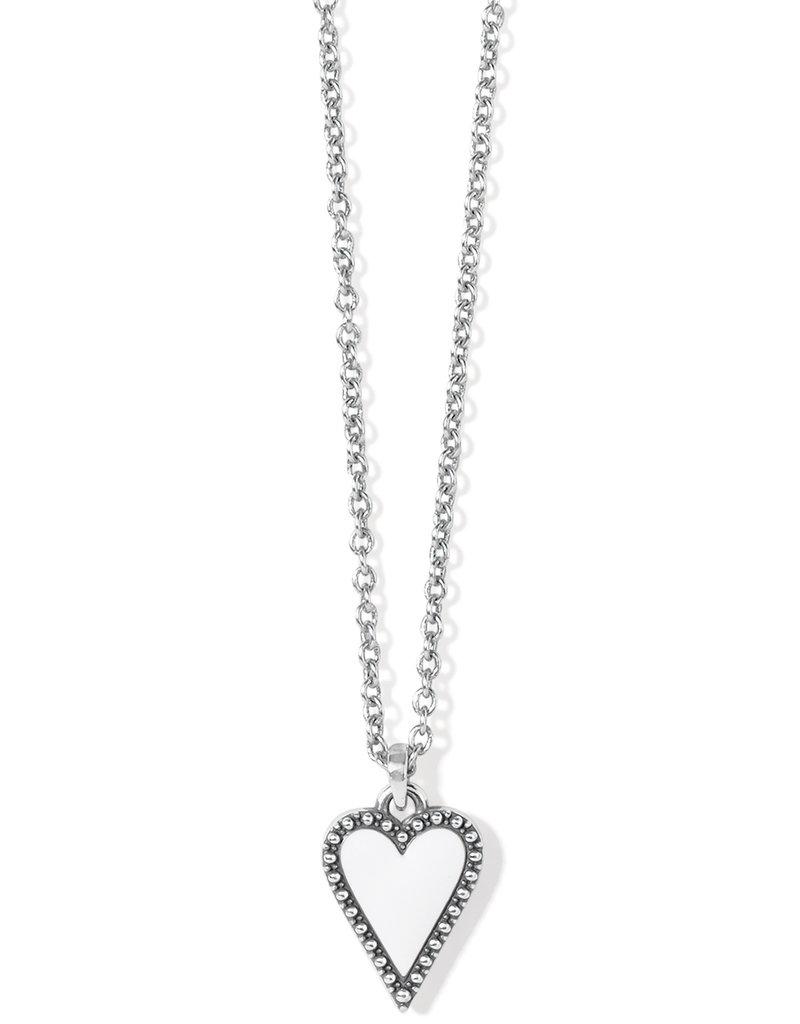 Dazzling Love Petite White Heart Necklace