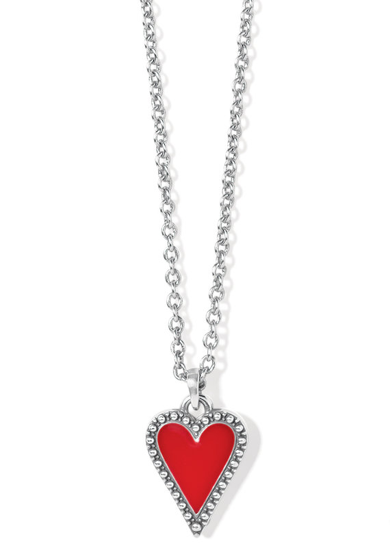 Dazzling Love Petite Red Heart Necklace