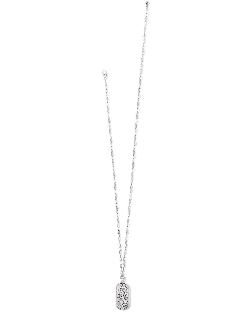 Contempo Token Tag Long Necklace