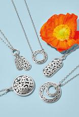 Contempo Token Tag Charm Necklace