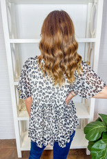 BY TOGETHER Anna Leopard Top