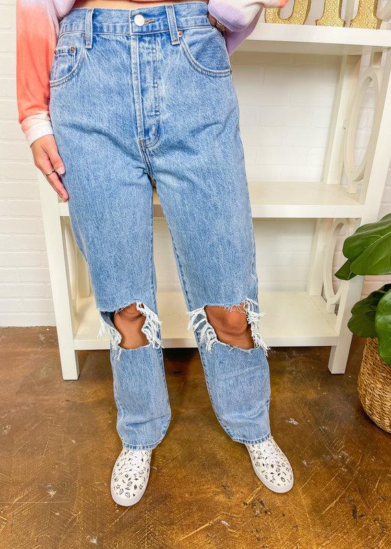 PISTOLA Cassie Super High Rise Straight Leg Jean