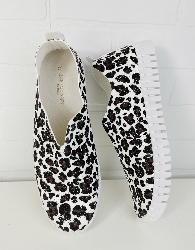 Ilse Jacobsen Tulip White Leopard Sneakers