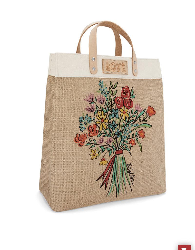Bella Bouquet Burlap Tote