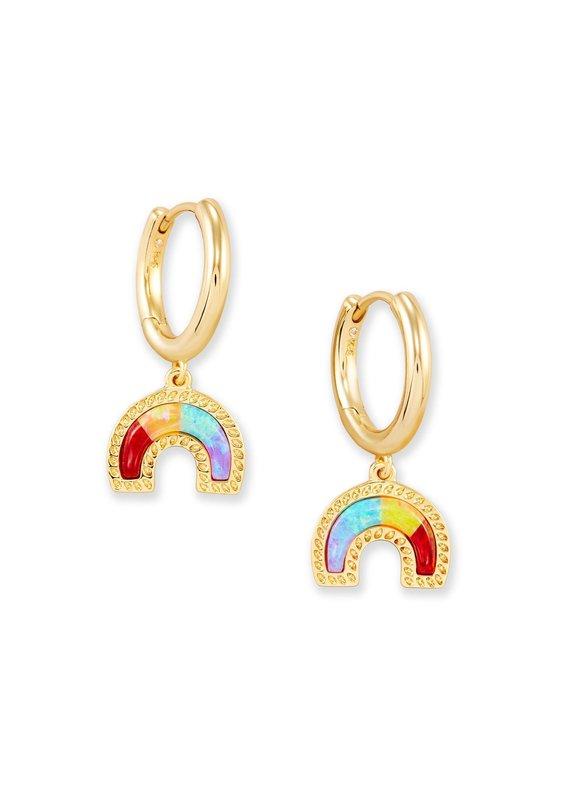 KENDRA SCOTT Rainbow Huggie Earrings