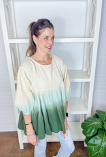 BY TOGETHER Tamara Ombre Gauze Tunic
