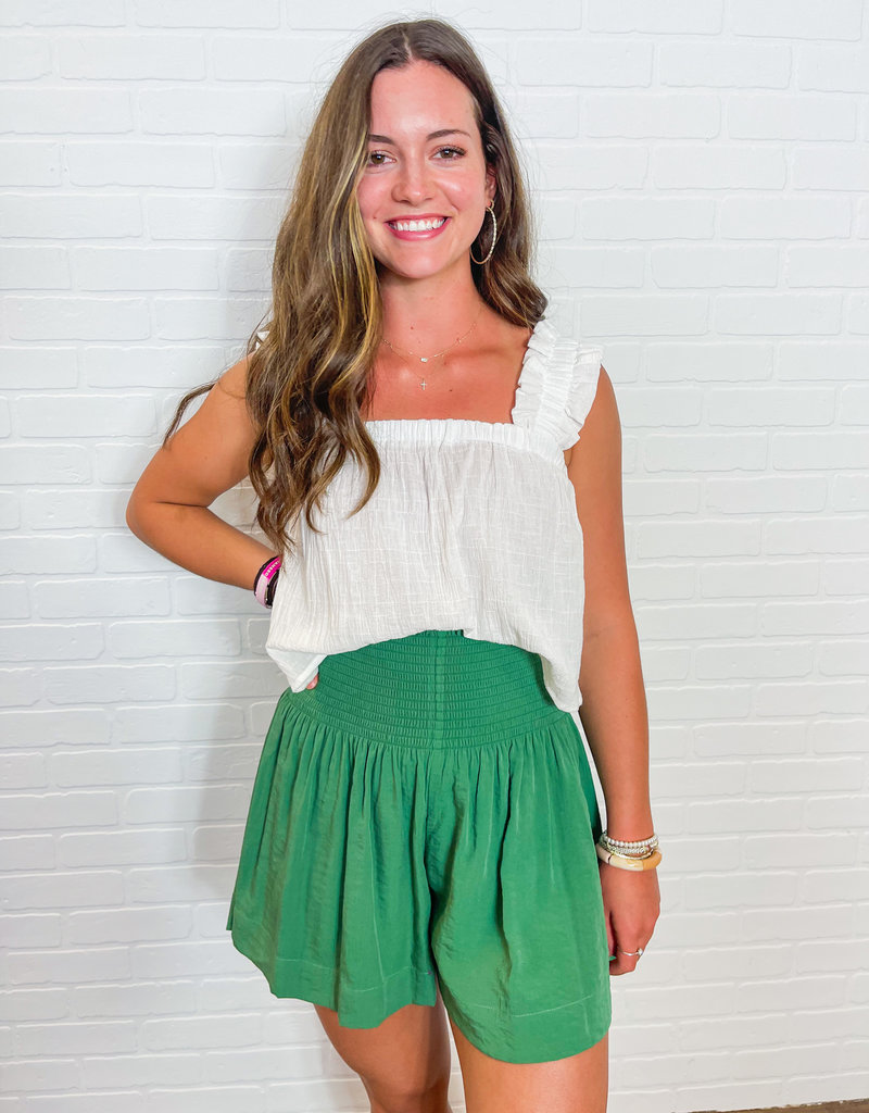 BEFORE YOU COLLECTION Ruffled & Cropped Top