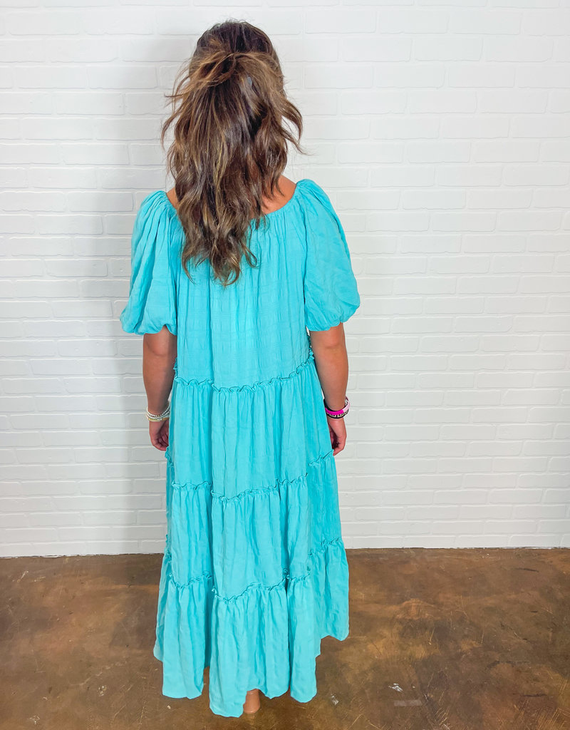EMORY PARK Karla Puff Sleeve Tiered Maxi