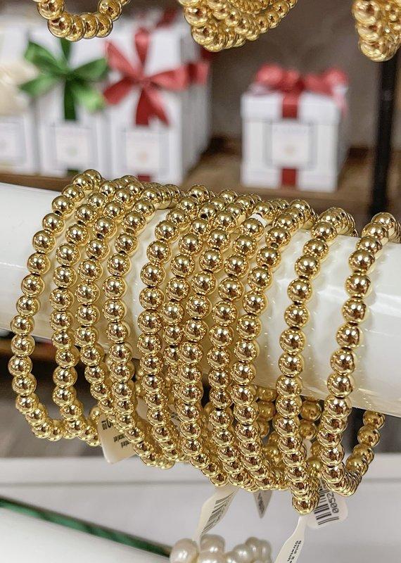 CATHERINE CANINO JEWELRY Gold Beaded Stretch Bracelet
