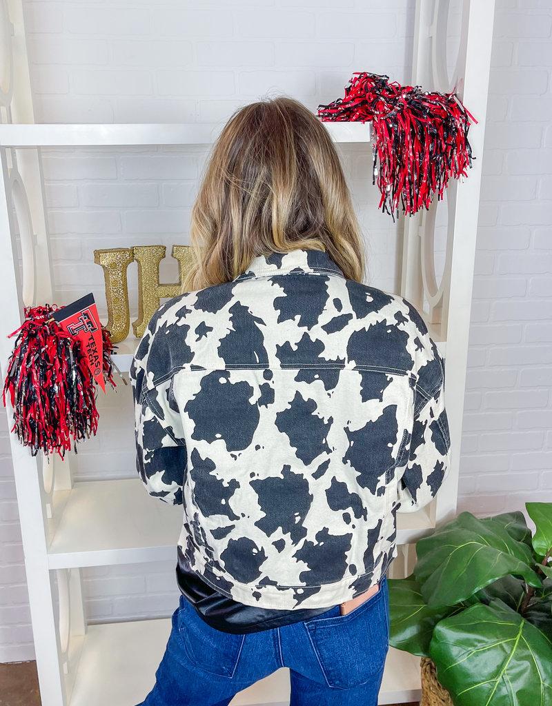 LE LIS Channa Cow Print Jacket