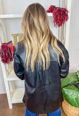 ESCUELO Like the Feel of Leather Shacket
