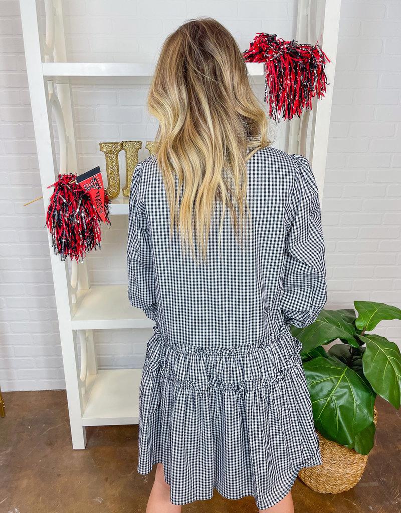 EN SAISON Annabelle Gingham Shirt Dress