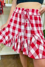 BAE VELY Godet Plaid Skirt