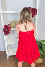 SAINTS & HEARTS Girly Girl Eyelet Swing Dress