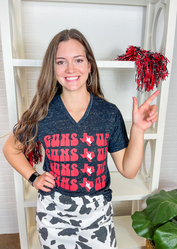 Jhoffmans Guns Up Signature Marble Tee