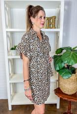 JADE Can You Say Cheetah Shirt Dress