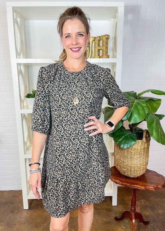 TYLER BOE Tinsley Cheetah Dress