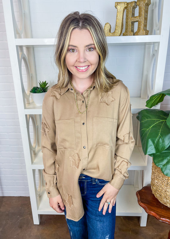 P CILL Star Patch Button Down