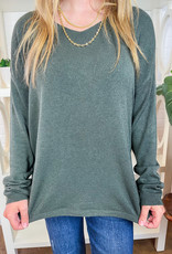 TEMPO PARIS Just Basic V-neck Sweater