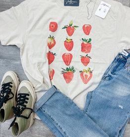 GIRL DANGEROFR Strawberries T-Shirt Dress