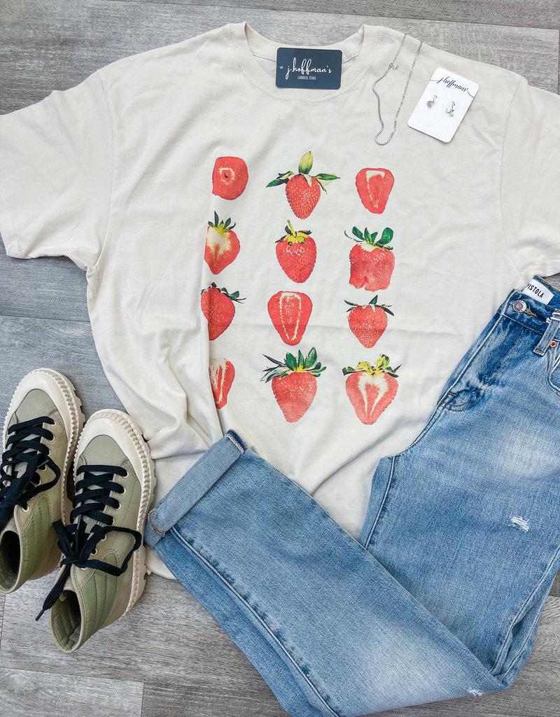 GIRL DANGEROUS Strawberries T-Shirt Dress