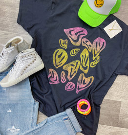 GIRL DANGEROFR Psychedelic Smiles T-Shirt Dress