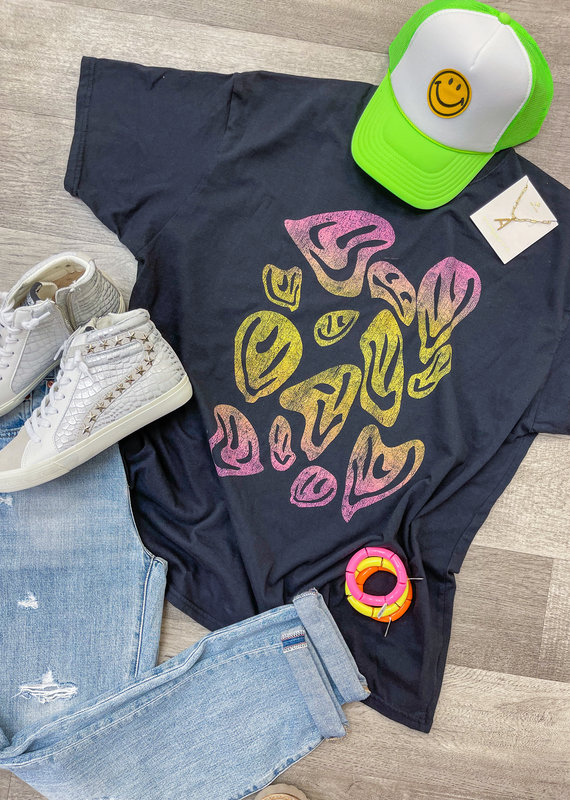 GIRL DANGEROUS Psychedelic Smiles T-Shirt Dress