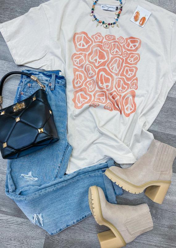 GIRL DANGEROFR Peace T-Shirt Dress