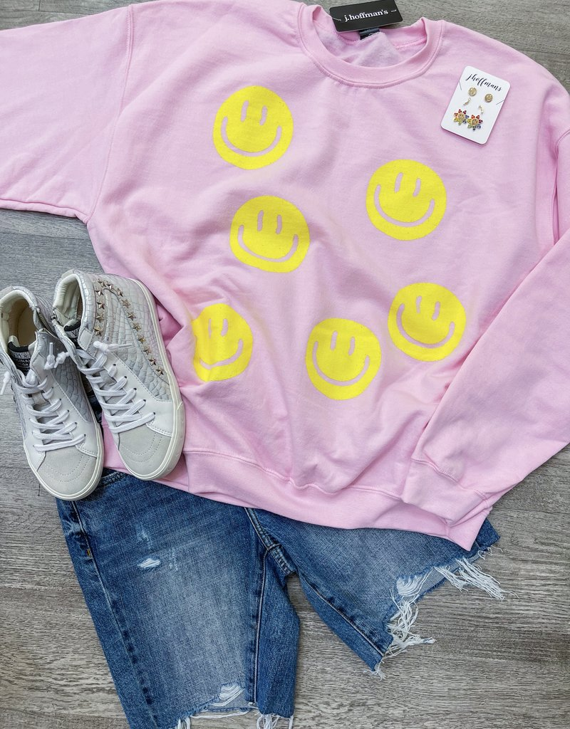 SWEET CLAIRE Smiles All Over Sweatshirt