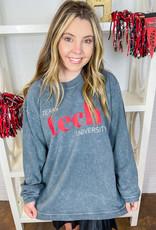 Jhoffmans Texas Tech Grey Sandwashed Sweatshirt