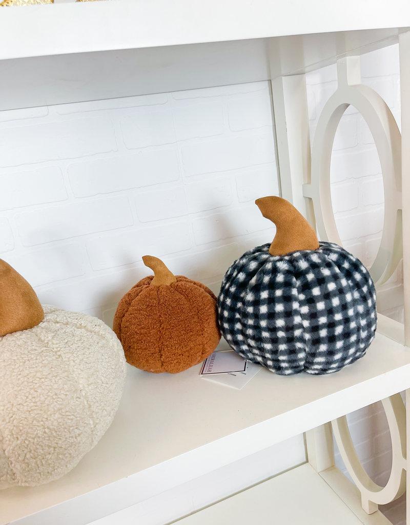 SHIRALEAH Faux Fur Pumpkin Pillow