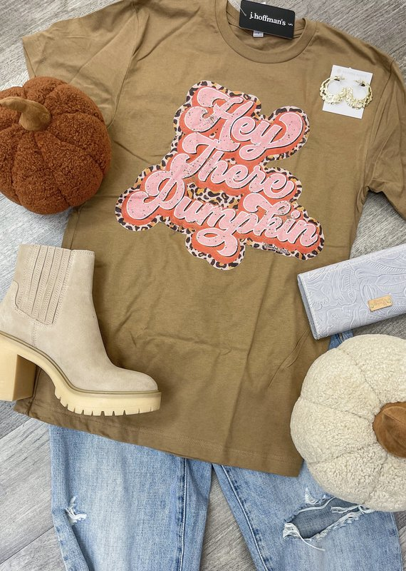 BRANDED COTTON Hey There Pumpkin Tee
