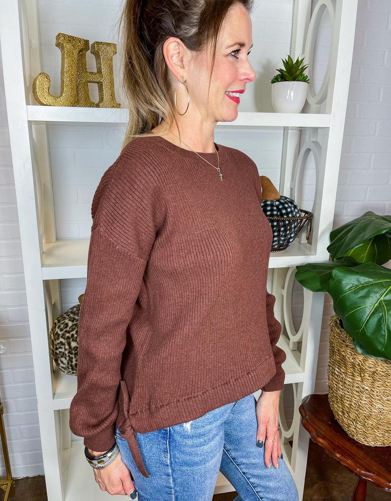 BOBI Nika Side-tie Sweater
