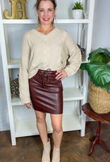 ROBELL Jutta Faux Leather Skirt