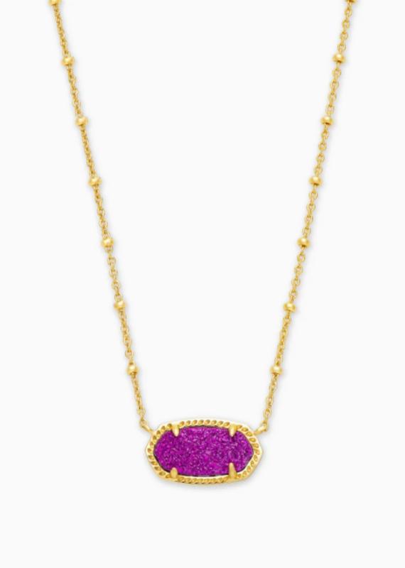 KENDRA SCOTT Elisa Satellite Gold Short Pendant Necklace