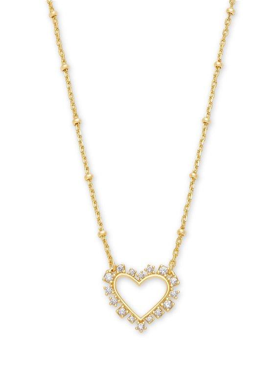 KENDRA SCOTT Ari Heart Crystal Necklace