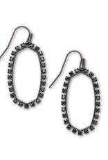 KENDRA SCOTT Elle Open Frame Black Spinel Earrings
