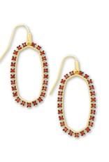 KENDRA SCOTT Elle Open Frame Burgundy Crystal Earrings