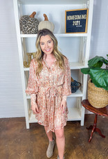 KARLIE Perfect Paisley Shirt Dress