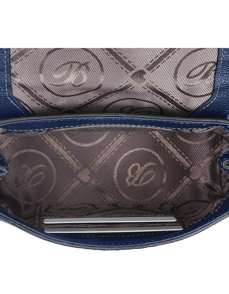 Fern Small Flap Bag in Blues