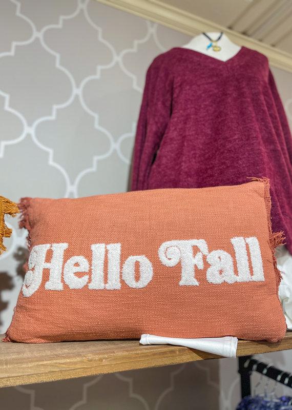 SHIRALEAH Hello Fall Pillow