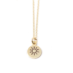 Crafts & Love Stamped Sun Necklace