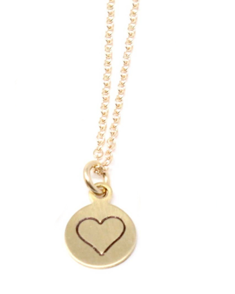 Crafts & Love Stamped Heart Necklace
