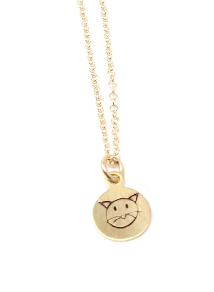 Crafts & Love Stamped Cat Necklace
