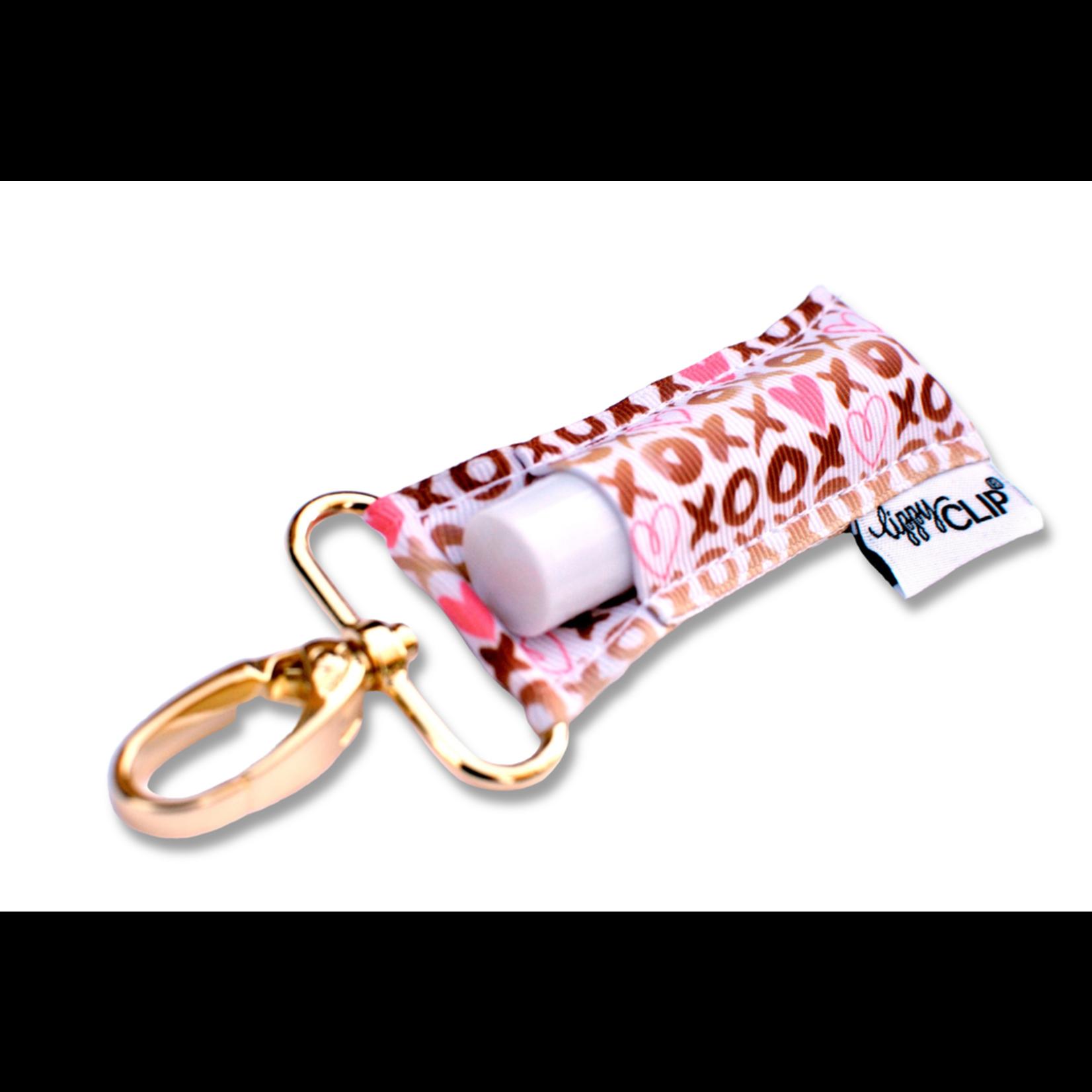 LippyClip Gold XOXO lip balm holder