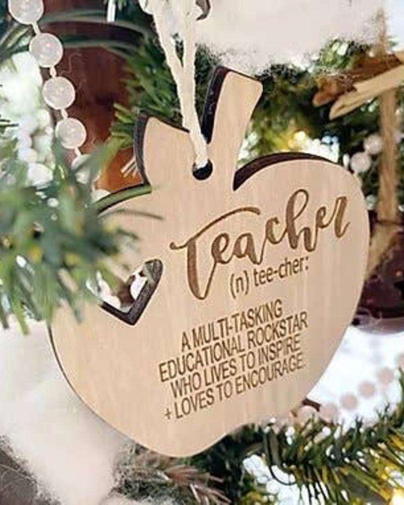 The Adorned Fox Teacher Ornament