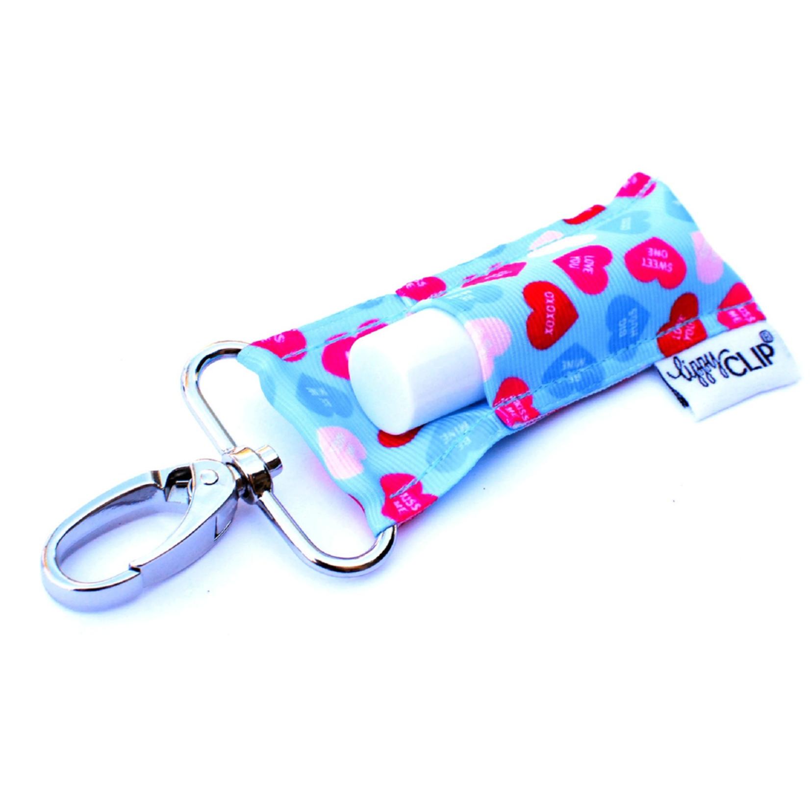 LippyClip Aqua hearts lip balm holder
