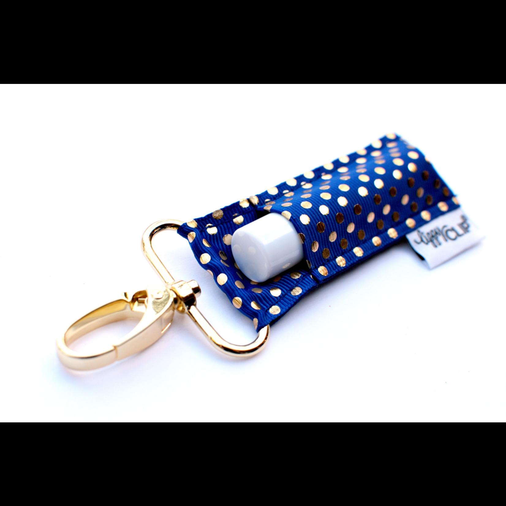 LippyClip Royal Gold Dots lip balm holder